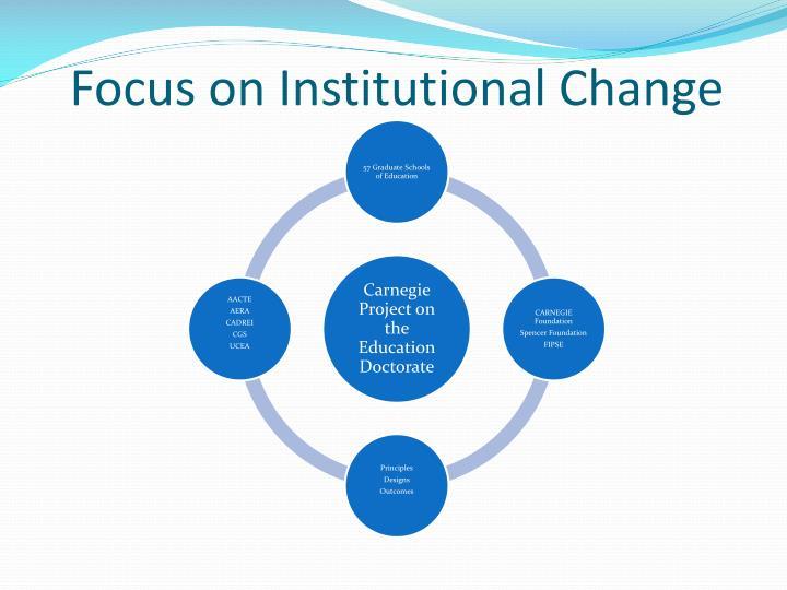 Focus on institutional change