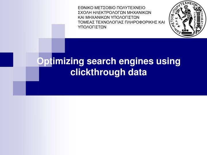 optimizing search engines using clickthrough data n.