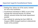 important legal constitutional points