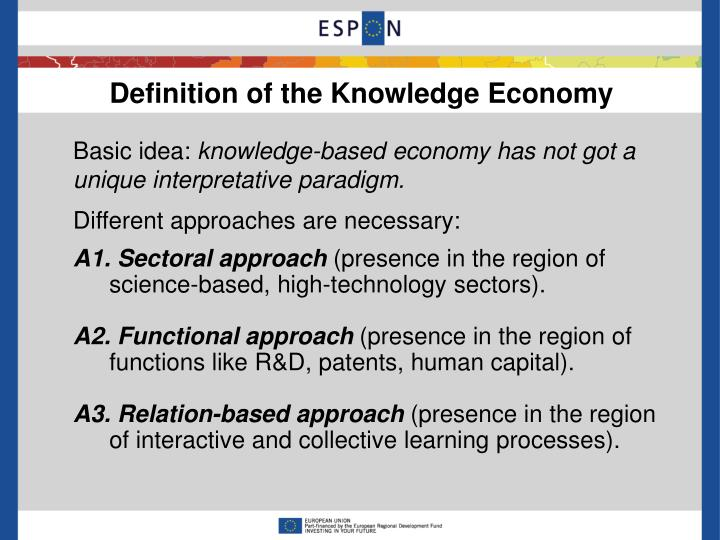 Definition of the Knowledge Economy