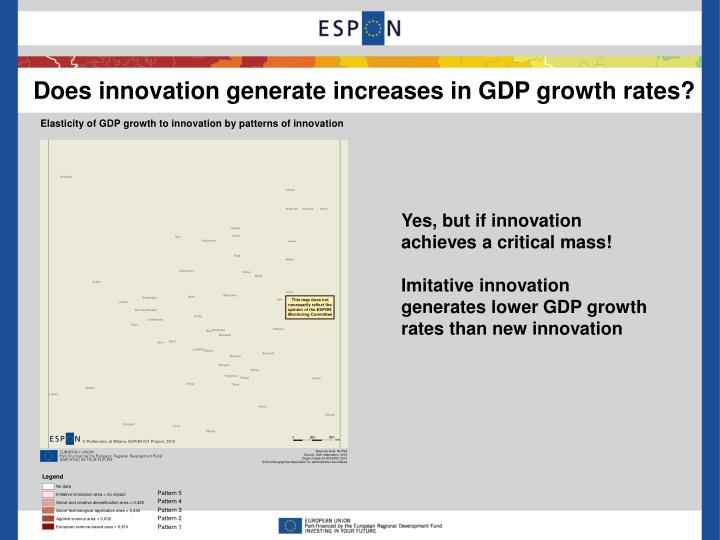 Does innovation generate increases in GDP growth rates?