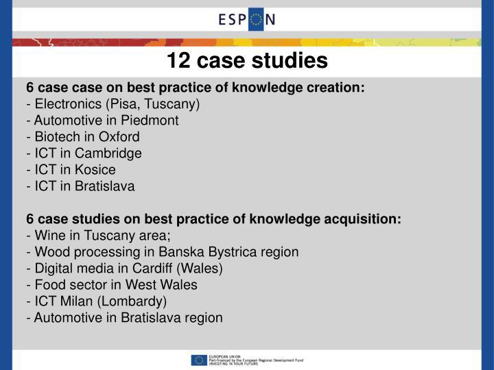 12 case studies