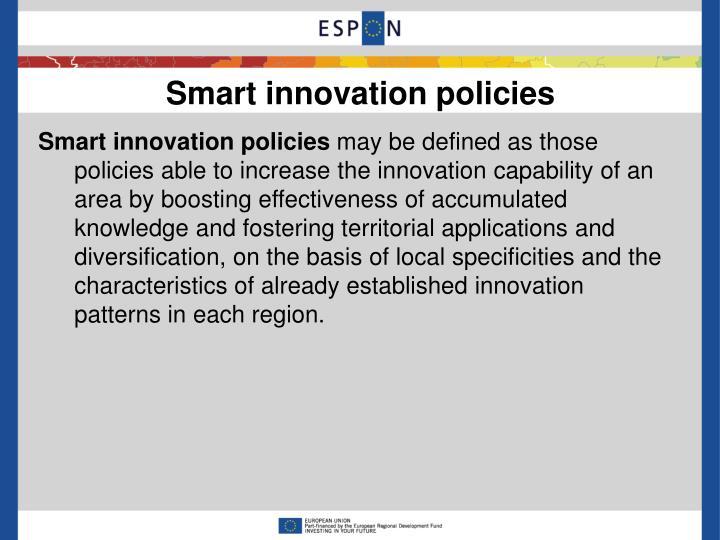 Smart innovation policies