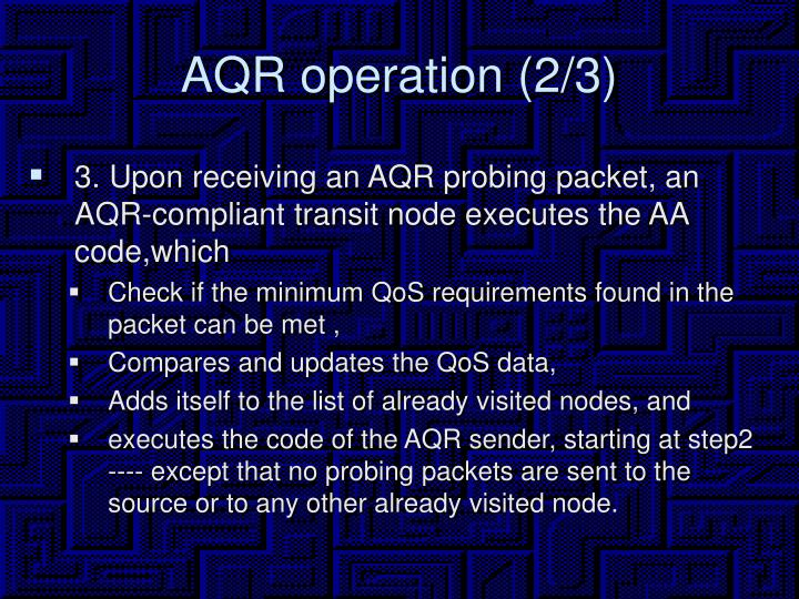 AQR operation (2/3)