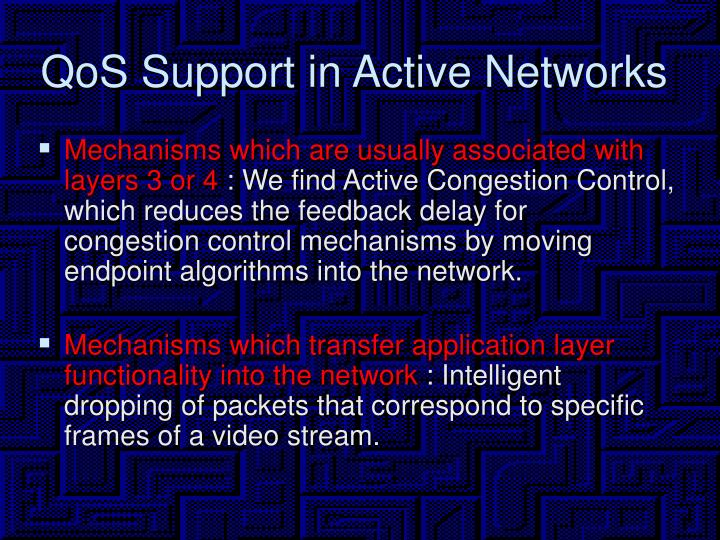 QoS Support in Active Networks