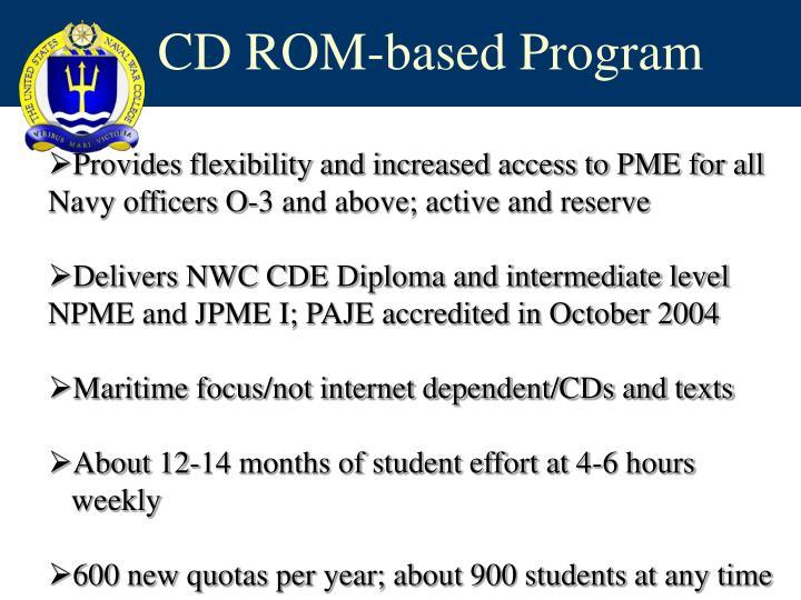 CD ROM-based Program