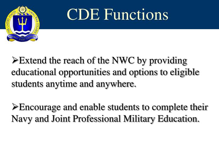 Cde functions