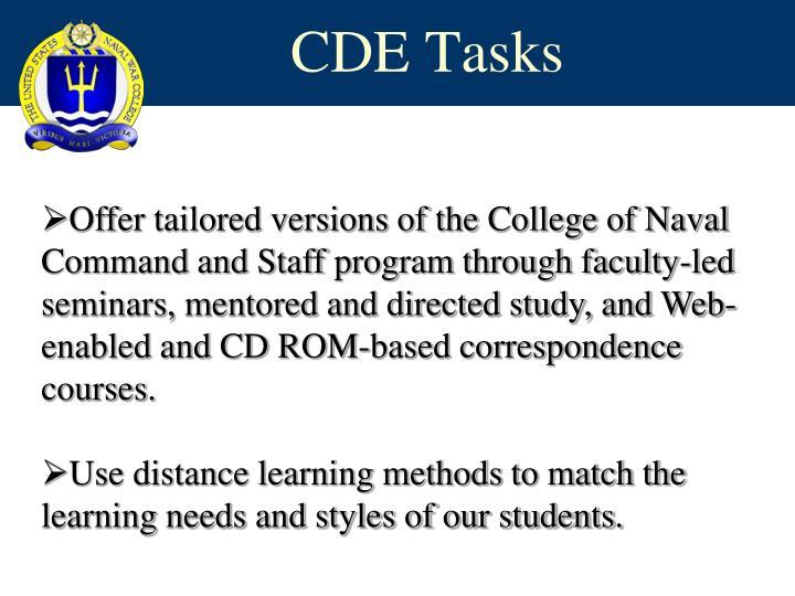 CDE Tasks