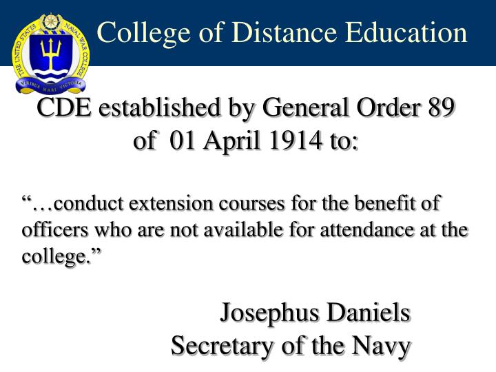 College of distance education1