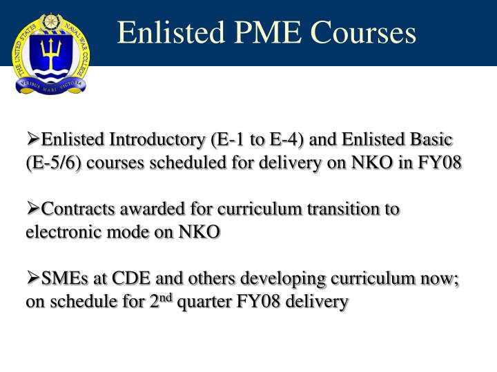 Enlisted PME Courses