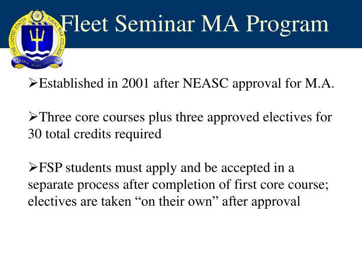 Fleet Seminar MA Program