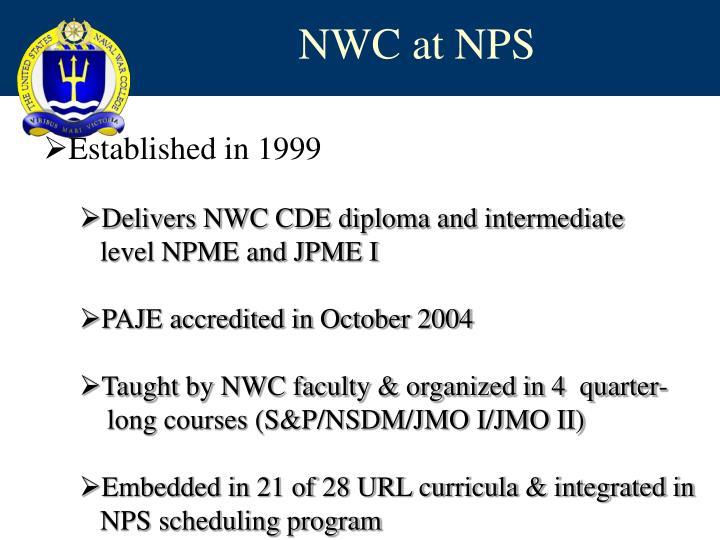 NWC at NPS