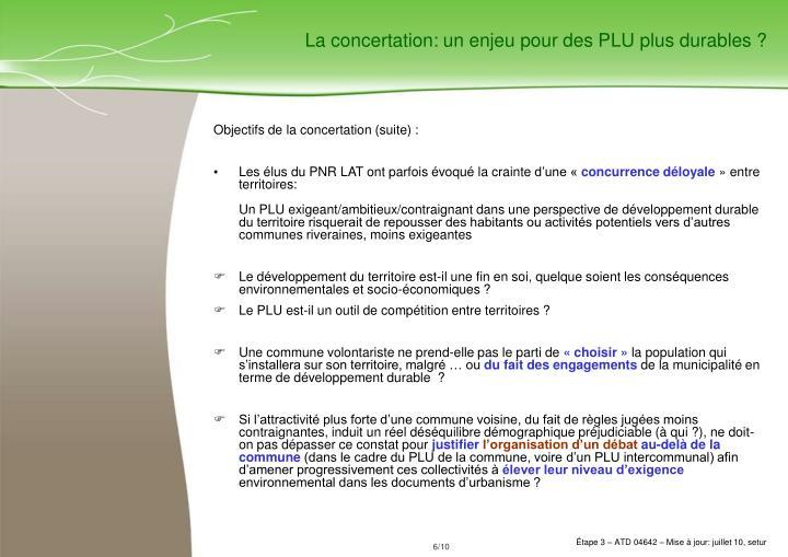 La concertation: un enjeu pour des PLU plus durables ?
