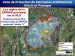 zone de protection de patrimoine architectural urbain et paysager