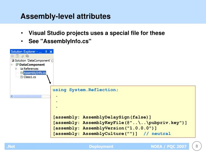 Assembly-level attributes