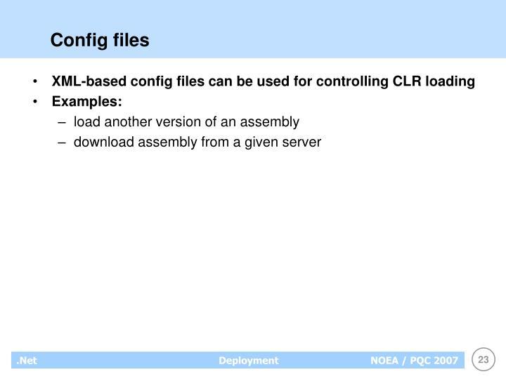Config files
