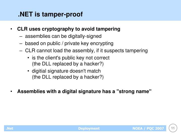 .NET is tamper-proof