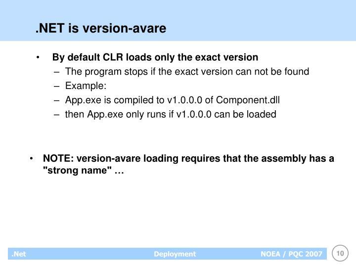 .NET is version-avare