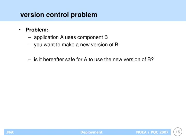 version control problem
