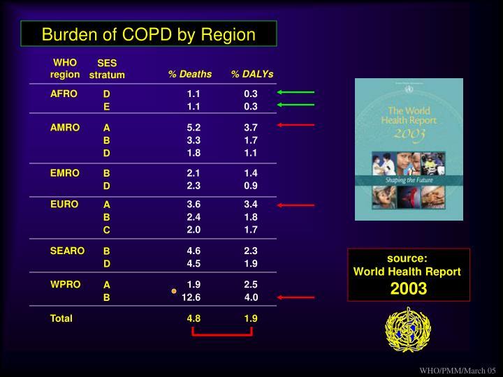 Burden of COPD by Region