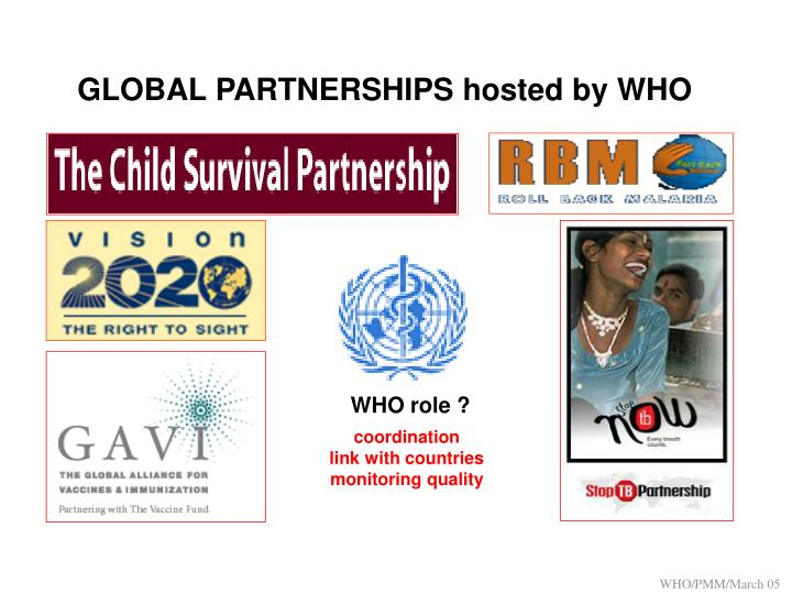 GLOBAL PARTNERSHIPS hosted by WHO