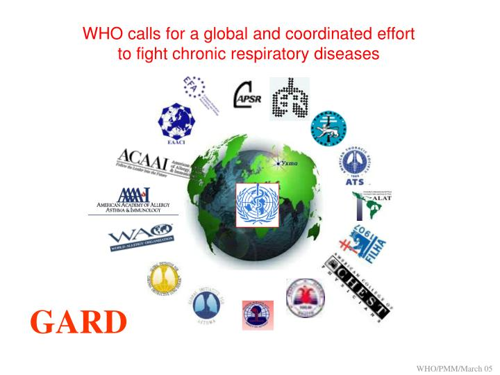 WHO calls for a global and coordinated effort