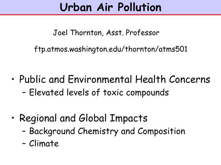 urban air pollution n.