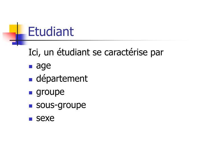 Etudiant