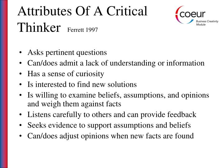 Attributes Of A Critical