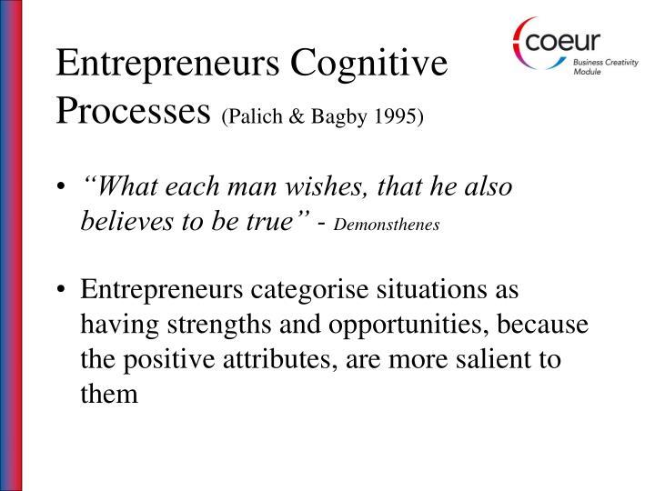Entrepreneurs Cognitive Processes