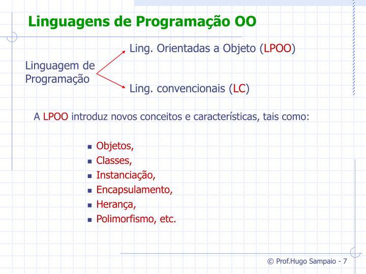 Linguagens de Programação OO