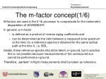 the m factor concept 1 6