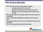 ppf scheme benefits