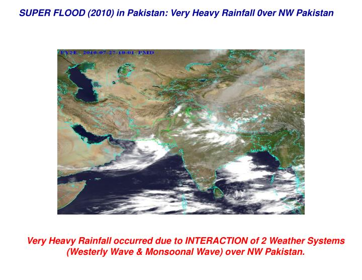 SUPER FLOOD (2010) in Pakistan: Very Heavy Rainfall 0ver NW Pakistan