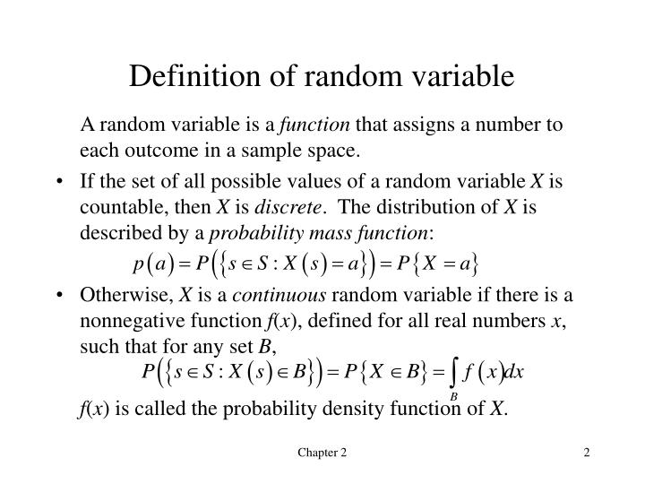 Definition of random variable