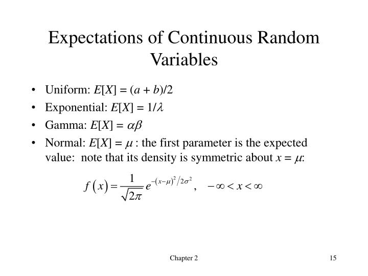Expectations of Continuous Random Variables