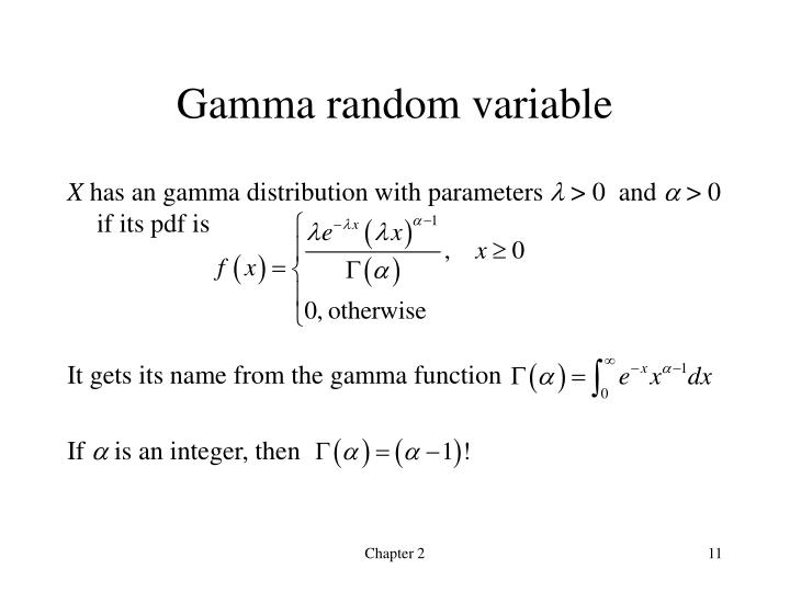 Gamma random variable