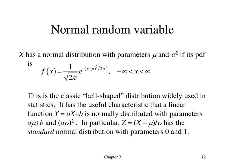 Normal random variable