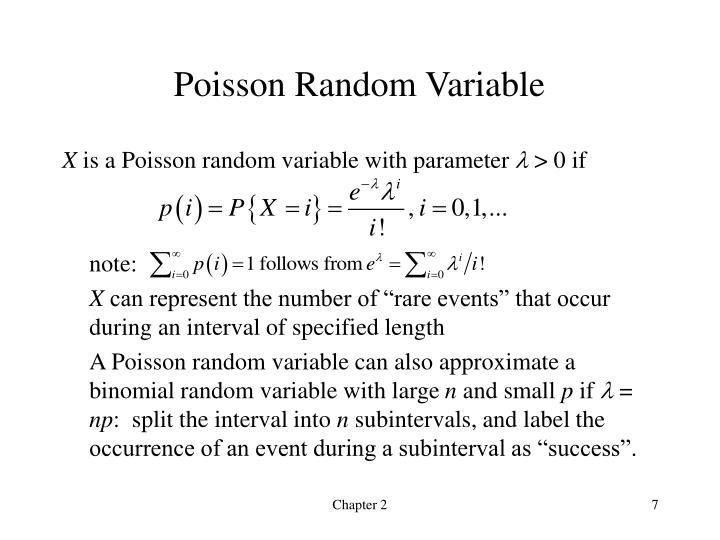 Poisson Random Variable
