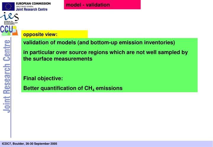 model - validation