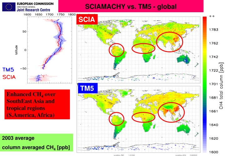 SCIAMACHY vs. TM5 - global