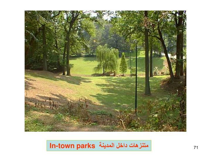 متنزهات داخل المدينة