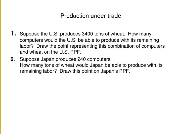 Production under trade