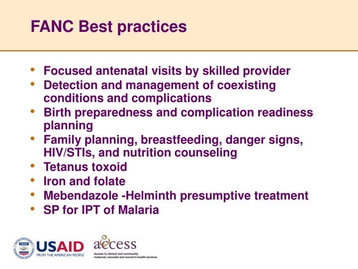 FANC Best practices