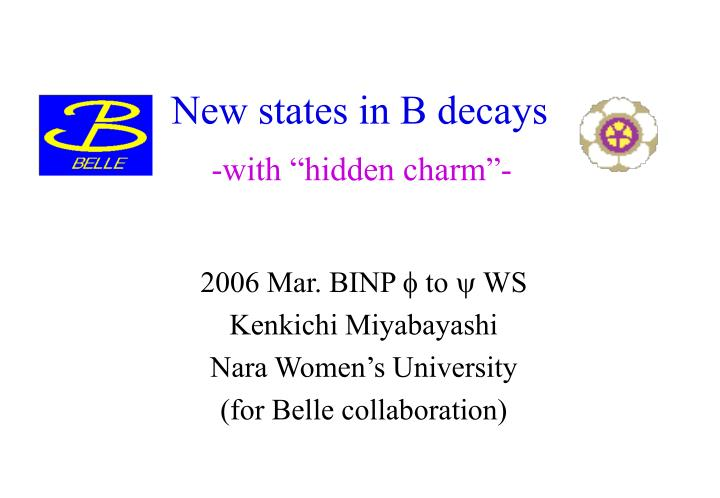 New states in b decays