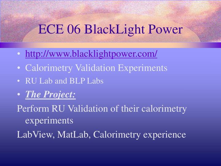 ECE 06 BlackLight Power