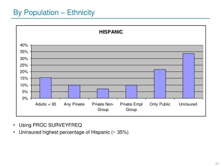 By Population – Ethnicity