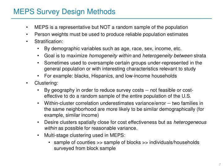 MEPS Survey Design Methods