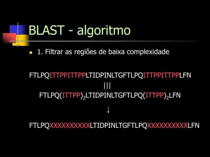 BLAST - algoritmo