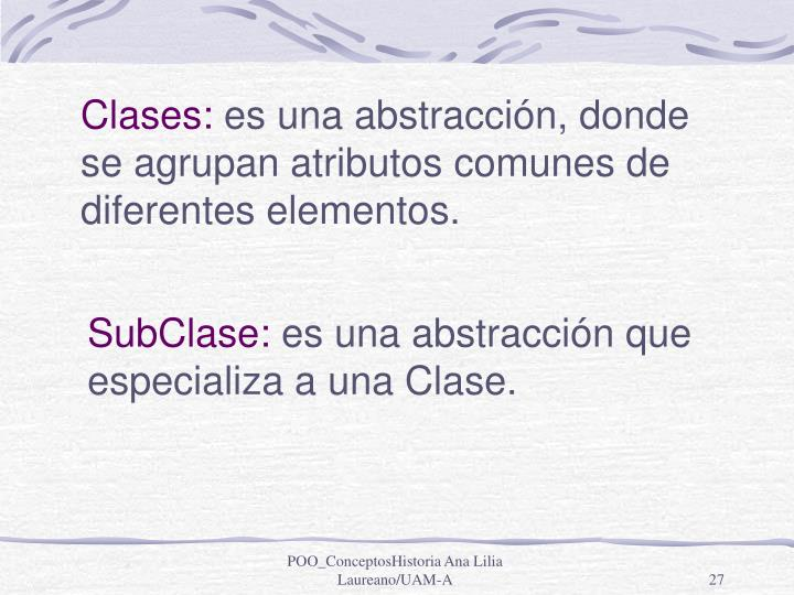 Clases: